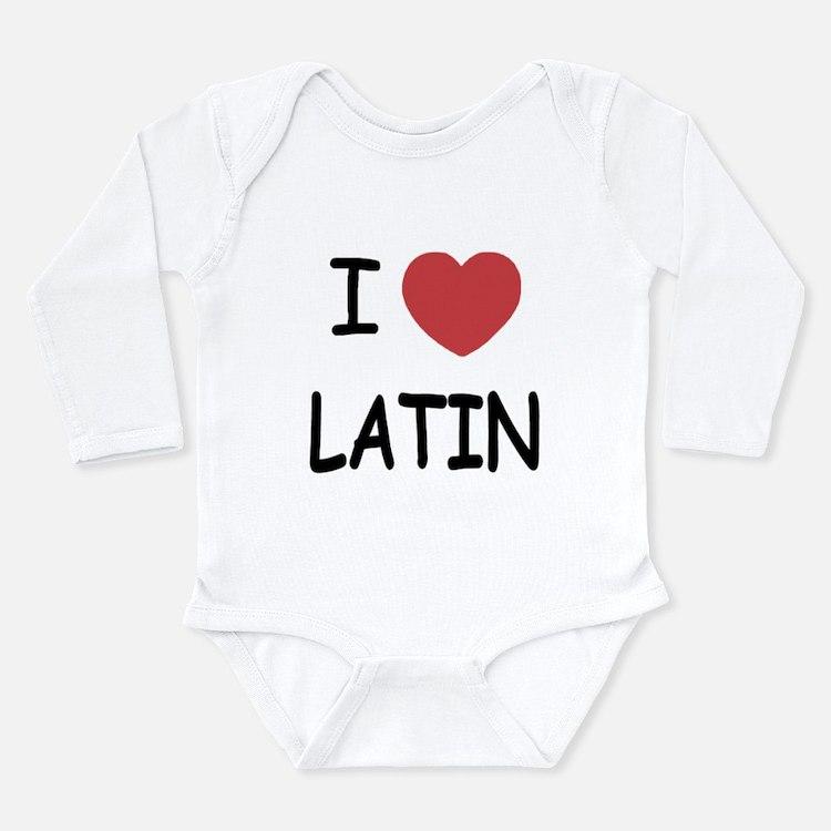 I heart latin Long Sleeve Infant Bodysuit