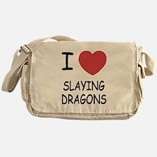 I heart slaying dragons Messenger Bag