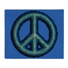 Flower Peace Symbol Throw Blanket