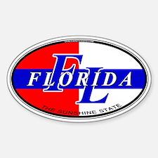 (FL) Florida USA Oval Decal