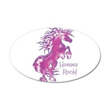 Horses Rock Gummy 22x14 Oval Wall Peel