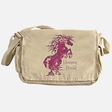 Horses Rock Gummy Messenger Bag