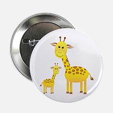 """Little & Big Giraffes 2.25"""" Button"""