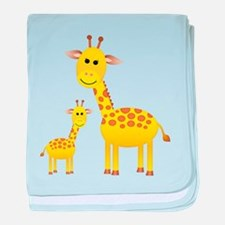 Little & Big Giraffes baby blanket