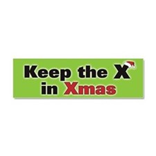 Keep the X in Xmas Car Magnet 10 x 3
