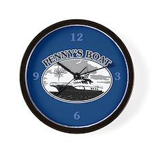 PENNY'S BOAT Wall Clock
