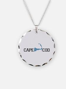 Cape Cod MA - Map Design Necklace