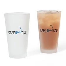 Cape Cod MA - Map Design Drinking Glass
