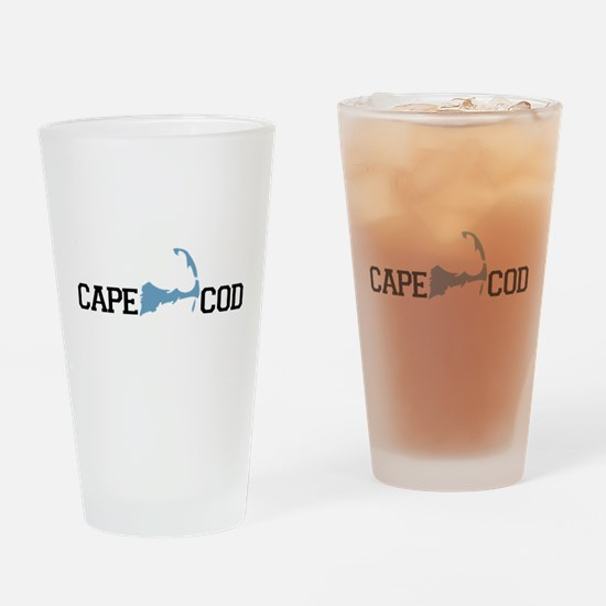 Cape Cod MA - Map Design Drinking Glass