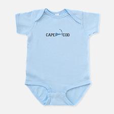 Cape Cod MA - Map Design Infant Bodysuit