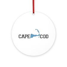 Cape Cod MA - Map Design Ornament (Round)
