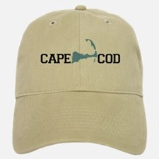 Cape Cod MA - Map Design Baseball Baseball Cap