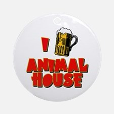 I Love Animal House Beer Ornament (Round)