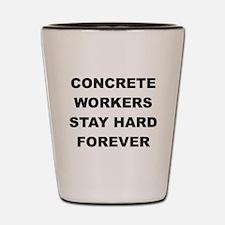 Cute Construction worker Shot Glass