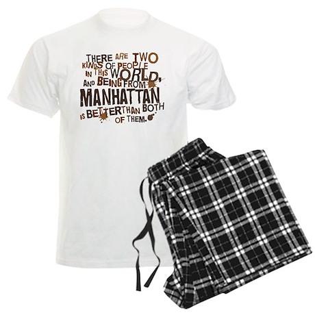 Manhattan (Funny) Gift Men's Light Pajamas