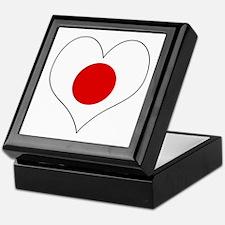 Japan Heart Keepsake Box