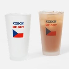 Cute Czech me out Drinking Glass