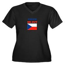 Funny Prague Women's Plus Size V-Neck Dark T-Shirt