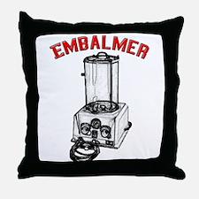 Funny Embalmer Throw Pillow