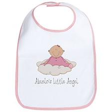 Abuelo's Little Angel Girl Bib