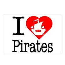 I Love Pirates Postcards (Package of 8)
