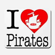 I Love Pirates Mousepad