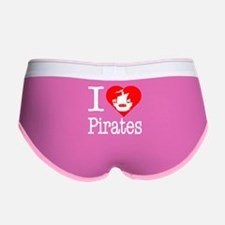 I Love Pirates Women's Boy Brief