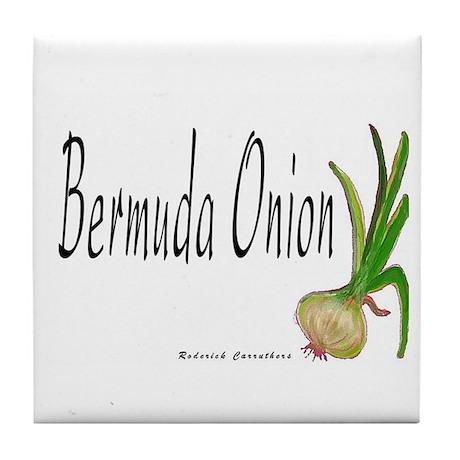 The Bermuda Onion Designer Tile Coaster