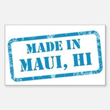 MADE IN MAUI Sticker (Rectangle)