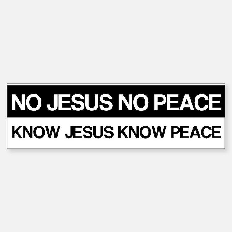 Know Jesus Know Peace Bumper Bumper Sticker