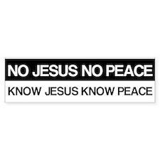 Know Jesus Know Peace Stickers
