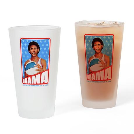 Obama Basketball Drinking Glass