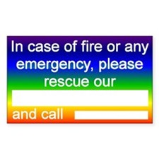 """Pet Emergency Rescue"" Rectangle Stickers"