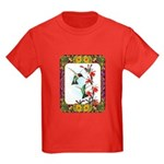 Hummingbirds and Flowers #5 Kids Dark T-Shirt