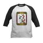 Hummingbirds and Flowers #5 Kids Baseball Jersey