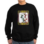 Hummingbirds and Flowers #5 Sweatshirt (dark)
