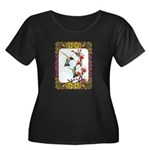 Hummingbirds and Flowers #5 Women's Plus Size Scoo