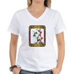 Hummingbirds and Flowers #5 Women's V-Neck T-Shirt