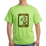 Hummingbirds and Flowers #5 Green T-Shirt