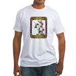 Hummingbirds and Flowers #5 Fitted T-Shirt