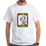 Hummingbirds and Flowers #5 White T-Shirt