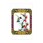 Hummingbirds and Flowers #5 Sticker (Rectangle 50
