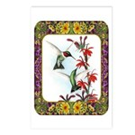 Hummingbirds and Flowers #5 Postcards (Package of