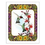 Hummingbirds and Flowers #5 Small Poster