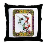 Hummingbirds and Flowers #5 Throw Pillow