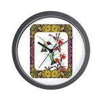 Hummingbirds and Flowers #5 Wall Clock