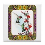 Hummingbirds and Flowers #5 Tile Coaster