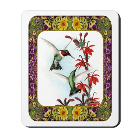Hummingbirds and Flowers #5 Mousepad