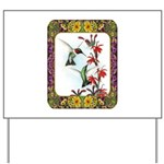 Hummingbirds and Flowers #5 Yard Sign