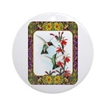 Hummingbirds and Flowers #5 Ornament (Round)